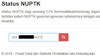 Cek data NUPTK