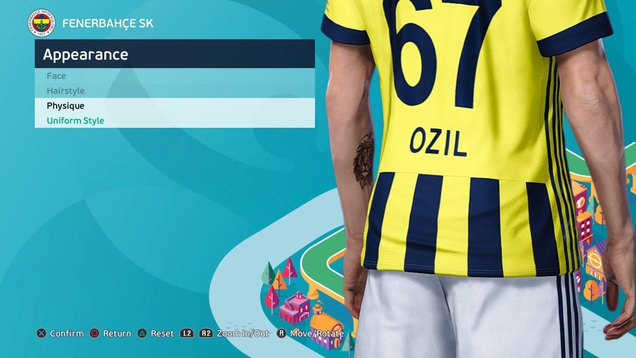 PES 2021 Mesut Özil Face and Tattoo