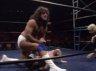 NWA Starrcade 1986 (The Skywalkers) - Jimmy Garvin hurts Brad Armstrong