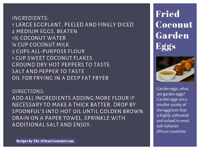 Fried Coconut Garden Eggs Eggplant Recipe