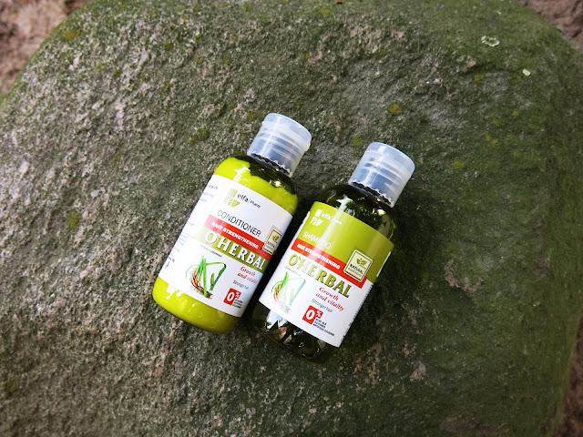 O'HERBAL - szampon oraz odżywka wzmacniająca do włosów z ekstraktem korzenia tataraku - Elfa Pharm.