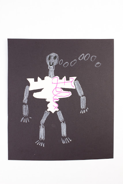 Easy Script Name Skeletons- Fun way to practice handwriting, do art, and learn science too! Super easy to set up and fun to see all the different results!