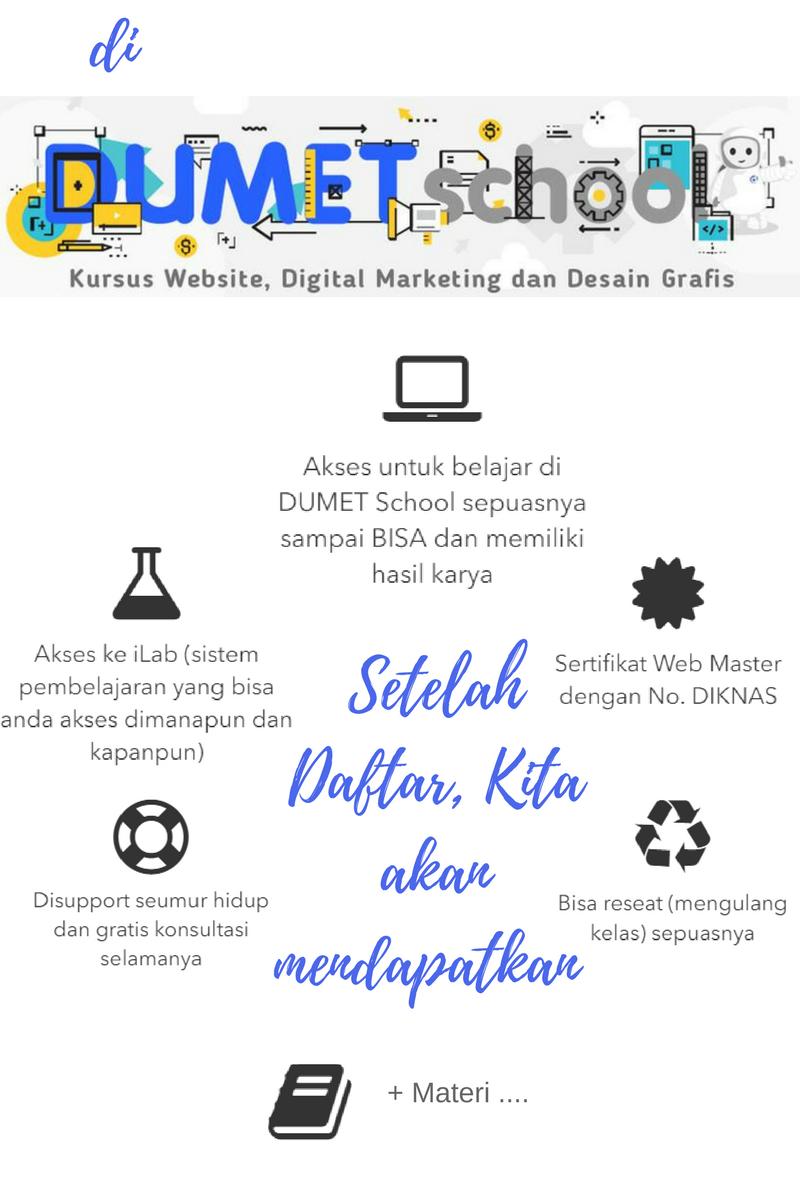 dumet school tempat kursus website terbaik 2018