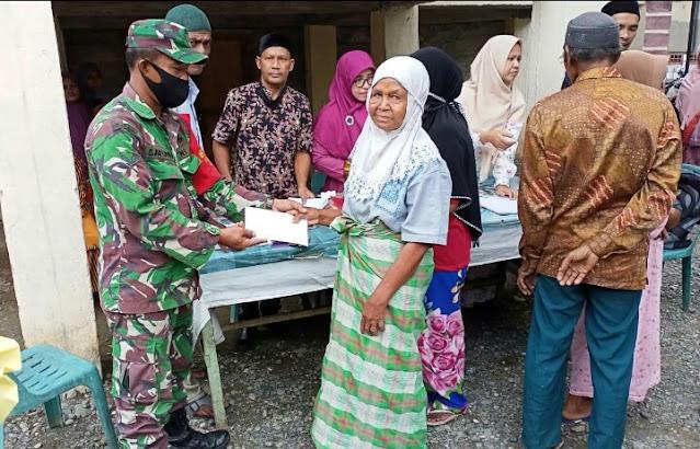 Babinsa Posramil 05/PC Bersinergi Dampingi Penyaluran ZIS