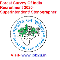 Forest Survey Of India Recruitment 2020, Superintendent, Stenographer