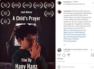 هاني هانز مخرج مصري يحصد جائزة عالمية في مهرجان Los Angeles film festival