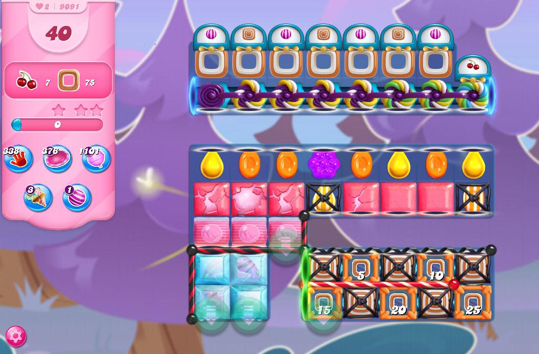 Candy Crush Saga level 9091
