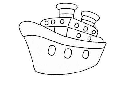 Mewarnai Gambar Perahu