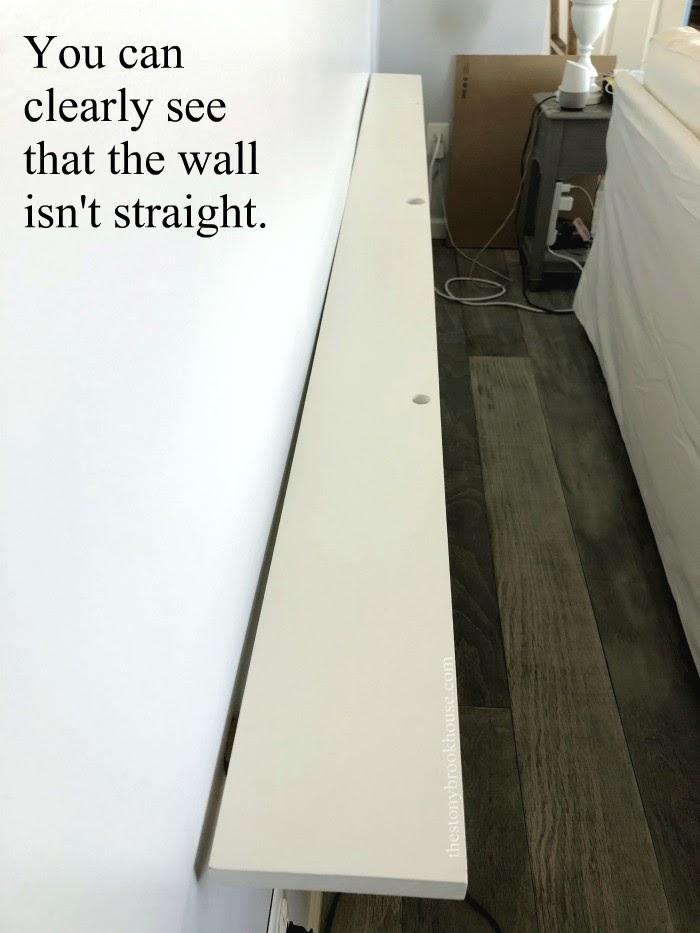 Wall isn't straight