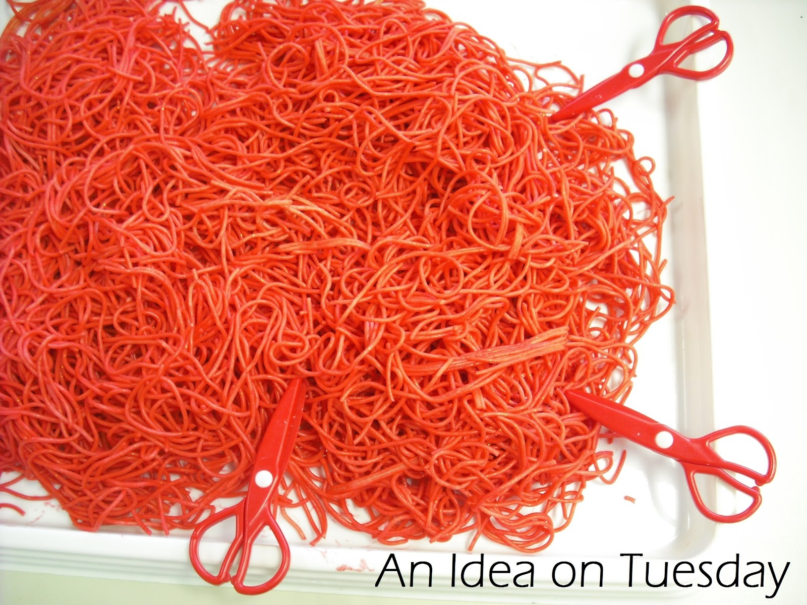An Idea On Tuesday Learning To Use Scissors