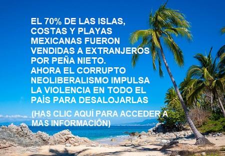 imágen de playas vendidas a extranjeros por Peña Nieto