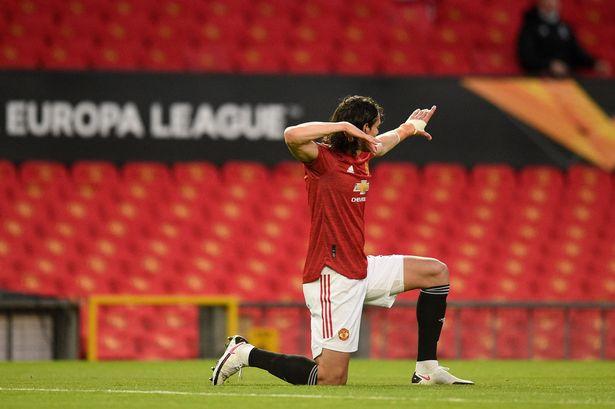 Manchester United forward Edison Cavani