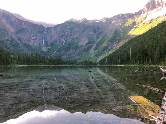 Avalanche Lake mirror effect