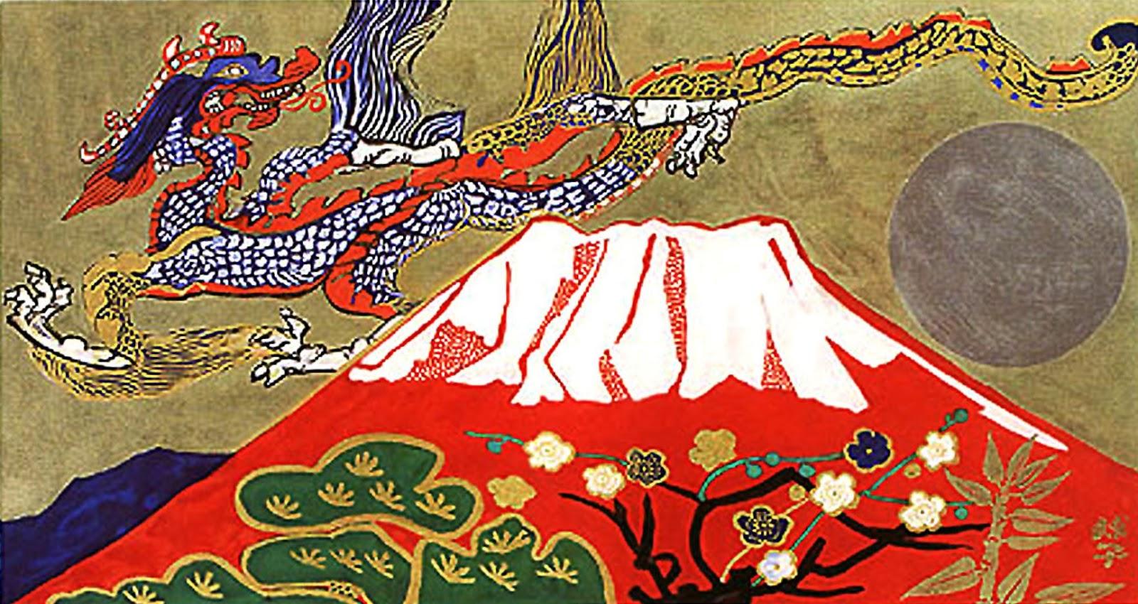Larc De Jade Peinture Japonaise Contemporaine
