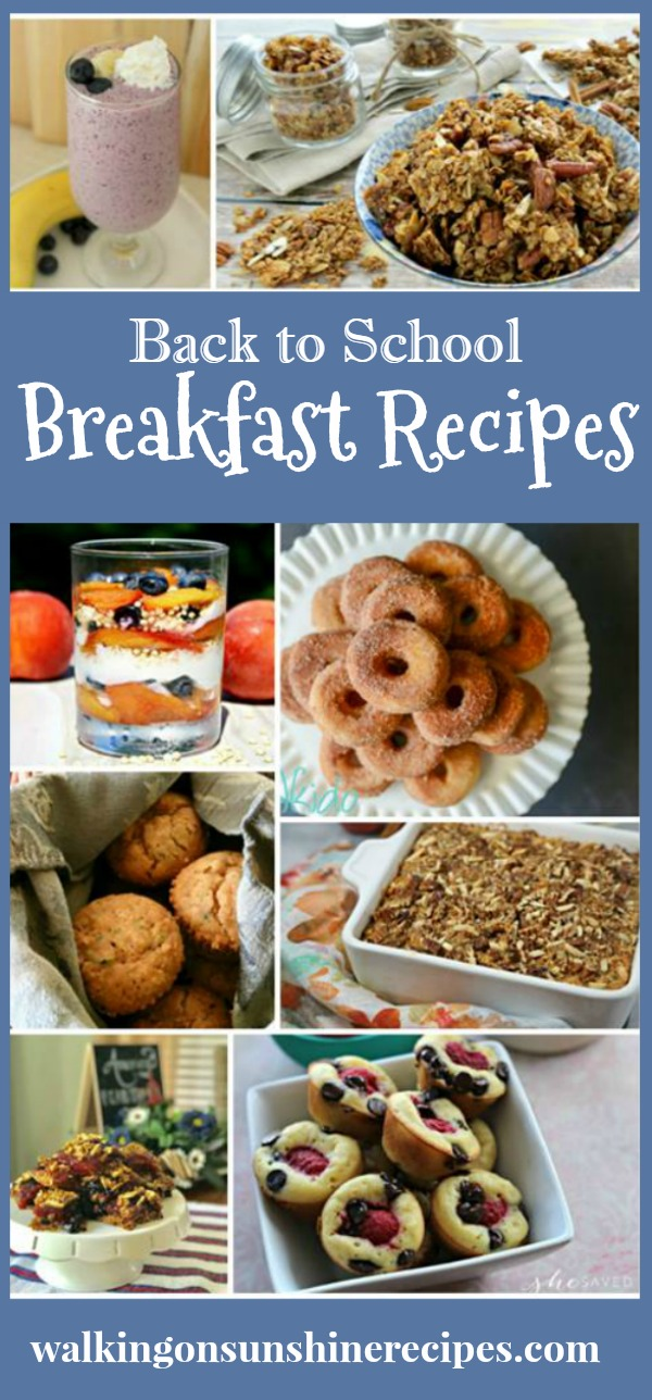 Easy Breakfast Recipes for Back to School featured on Walking on Sunshine.