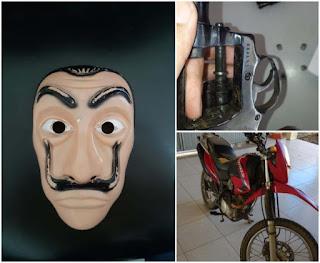 Polícia conclui investigação sobre crimes cometidos por dupla usando máscaras de 'La Casa de Papel'