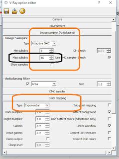 setting Image sampler vray sketchup