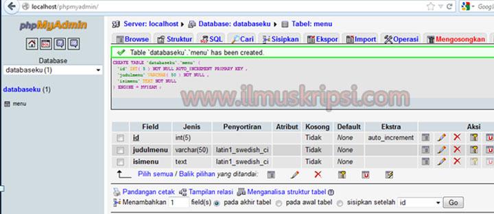 Belajar PHP Dasar Membuat CRUD dengan PHP dan Database Mysql