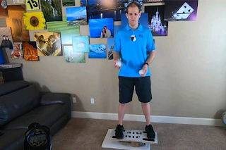Idaho man juggles on a balance board for over 2 hours