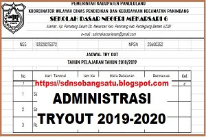 ADMINISTRASI TRYOUT FILE EXCEL TAHUN 2019-2020
