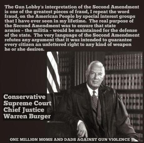 Chief Justice Warren Berger Against Gun Nuts