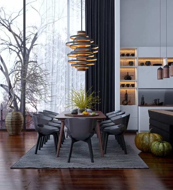 Classic dining rooms 2019 with international design and refined colors