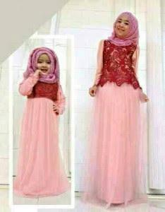 Baju Muslim Kembar Ibu Dan Anak Perempuan