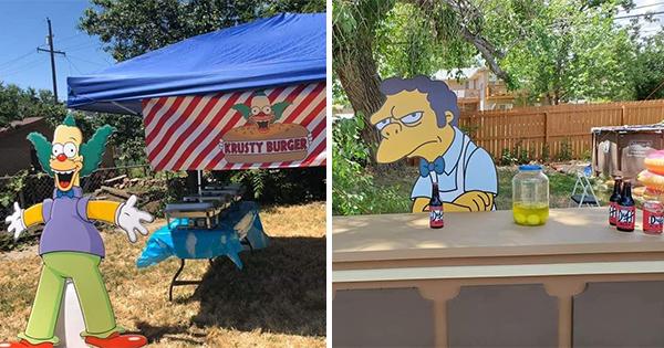 🔥 Familia Celebra Fiesta de Cumpleaños de los Simpson