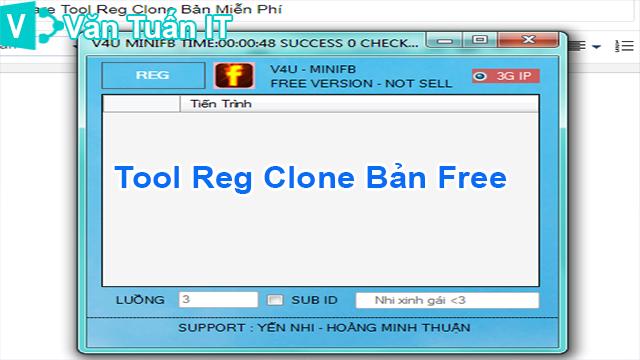 Share Tool Reg Clone Bản Miễn Phí