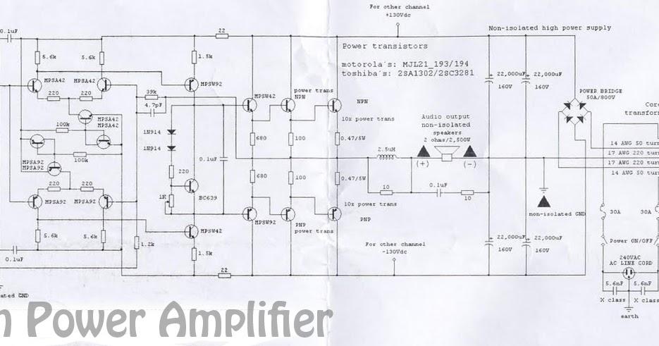5000 Watts High Power Amplifier Schematic   circuit
