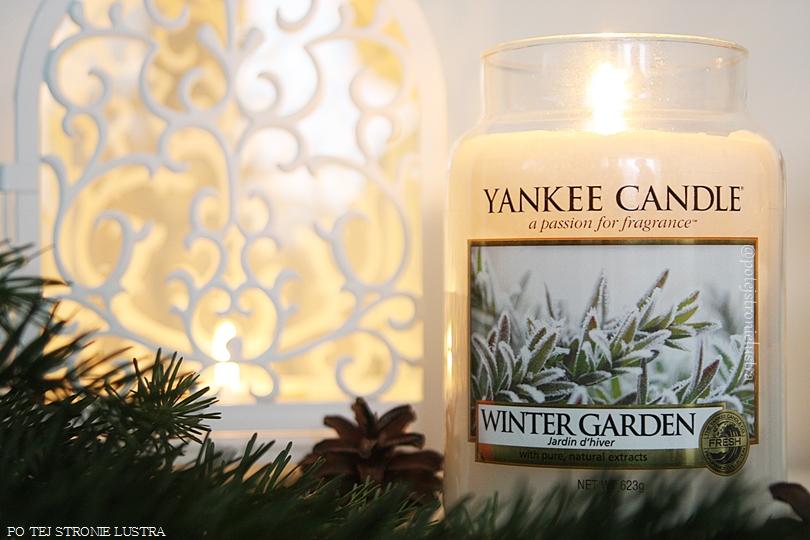 duża świeca yankee candle winter garden