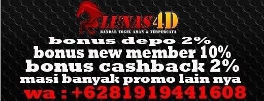 LUNAS4D - Promo Freebet Gratis Hingga Rp. 50.000 Hanya Share