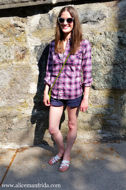 flannel, shorts, pink, plaid, ootd, outfit of the day, Alice Manfrida, style, fashion