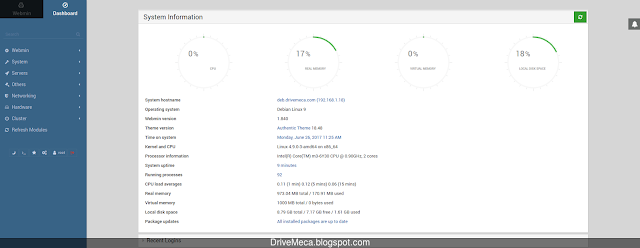 Consola web Webmin en Debian