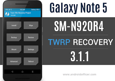 TWRP Recovery for Galaxy Note 5 SM-N920R4