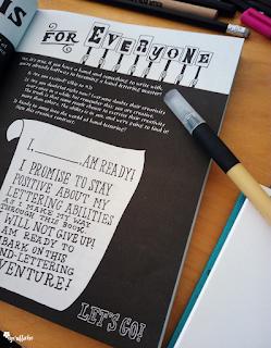 Handlettering for everyone - Ein Versprechen an sich selbst - Buchseite