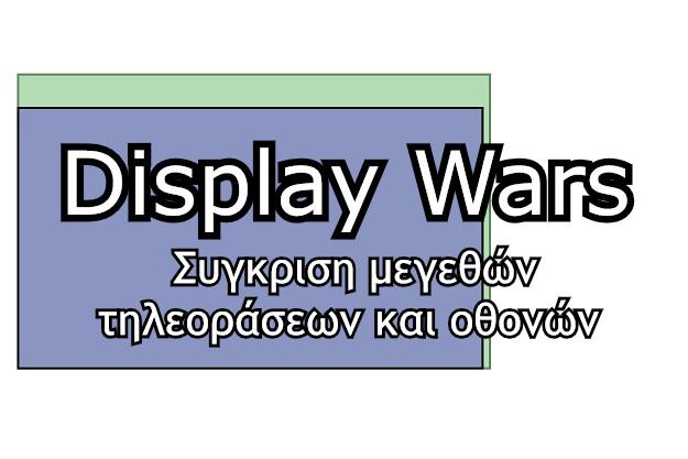 display wars συγκριση μεγέθους τηλεόρασης