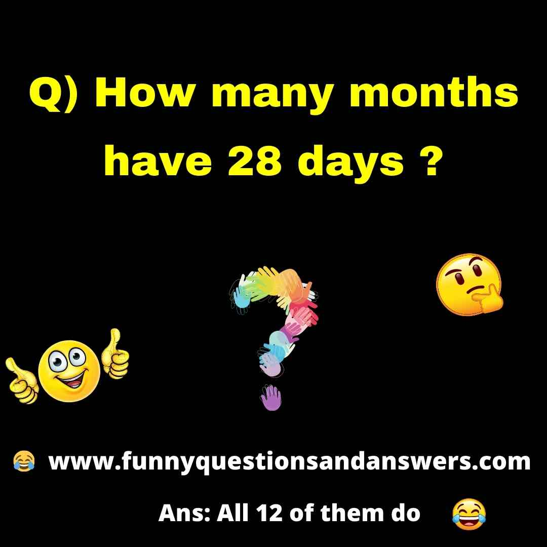 Funny Tricky Questions And Answers To Ask Friends
