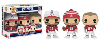 Tom Brady / Rob Gronkowski / Julian Edelman New England Patriots 3-Pack Pop! NFL Football Vinyl Figures (GTS / BGV Exclusive)