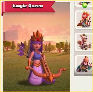 Clash of Clans New Jungle Queen Skin Revealed! Jungle Archer Queen Skin PNG