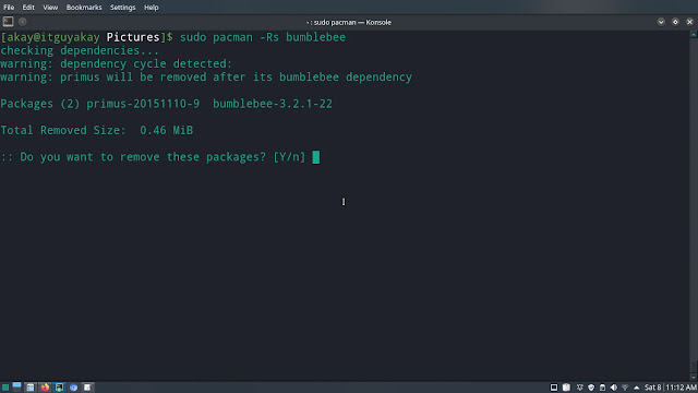 pacman package remove command