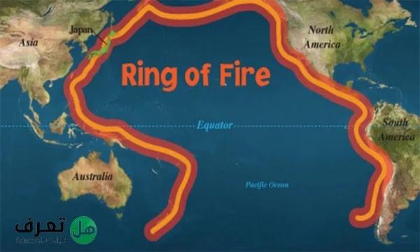 تعريف الحزام الناري في الجغرافيا