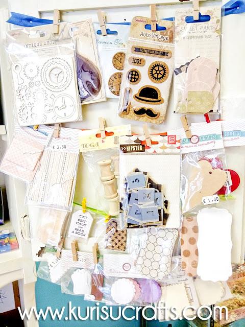 Etiquetas y sobres en Kurisu Crafts