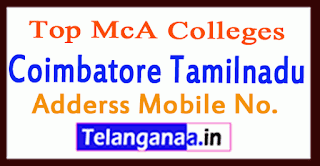Top MCA Colleges in Coimbatore Tamilnadu