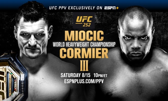 Watch UFC 252 Miocic vs Cormier 3 8/15/2020 Live Stream Full Show Replay