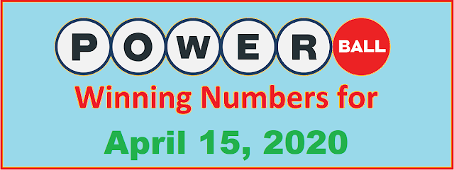 PowerBall Winning Numbers for Wednesday, April 15, 2020