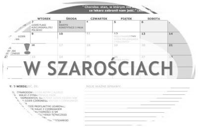 kalendarz na maj szary