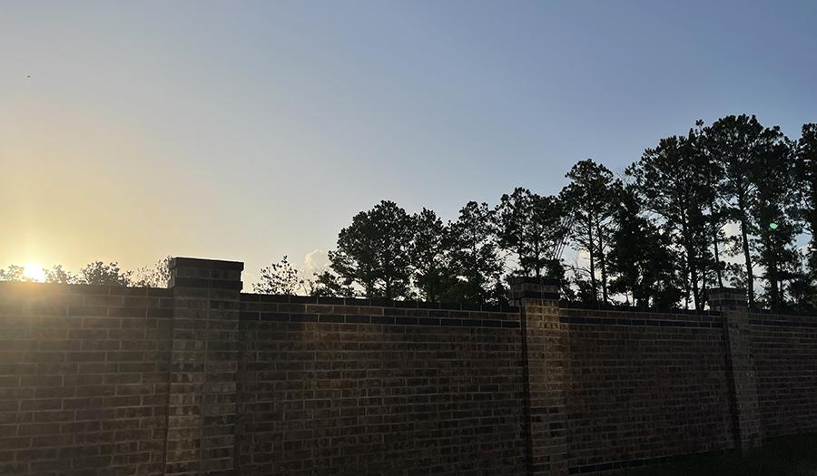 Sunrise over the fence