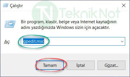 Windows 10 Otomatik Yüklenen Uygulamaları Kapatma