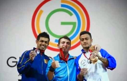 Sudesh Peiris wins Silver at Commonwealth Games 2014